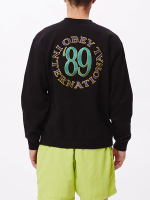 obey 89 int crew black | OBEY Clothing