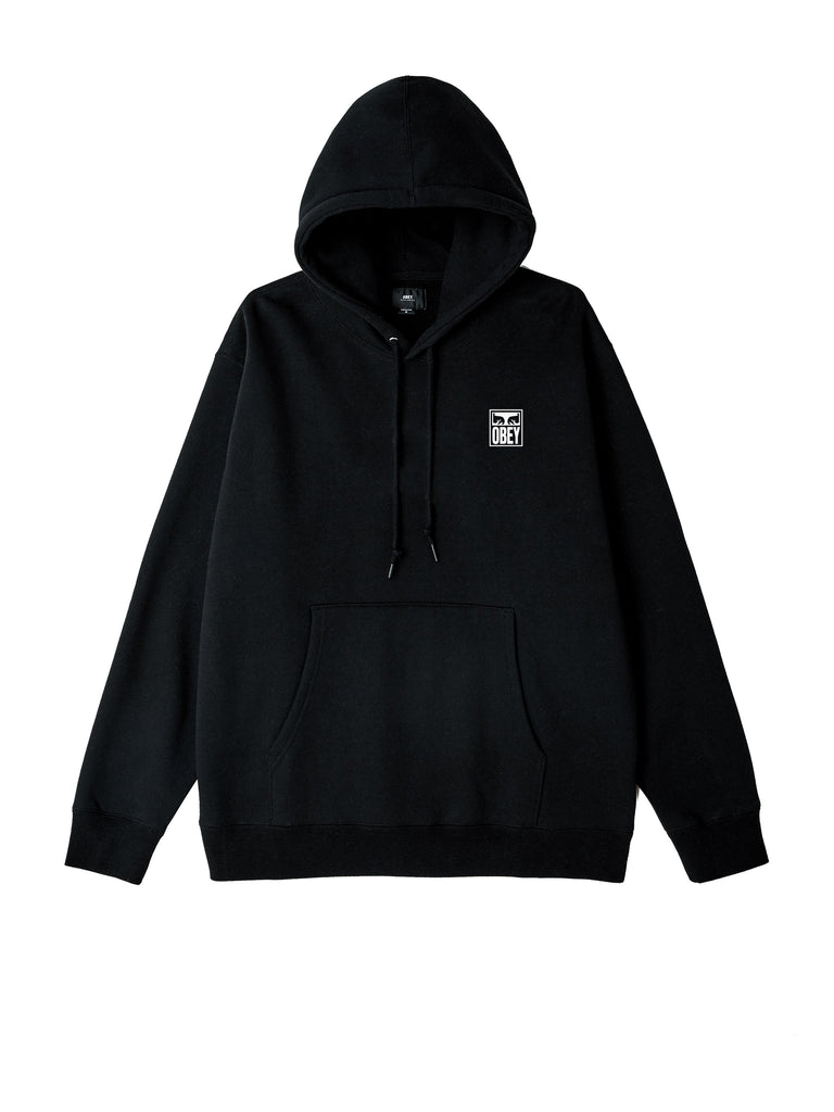 obey eyes icon hood black | OBEY Clothing