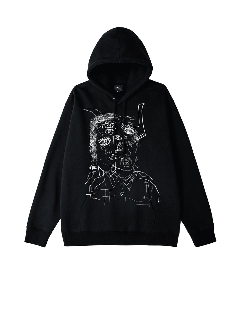 two faced hood black | OBEY Clothing