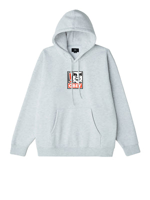 obey exclamation point hood heather ash | OBEY Clothing