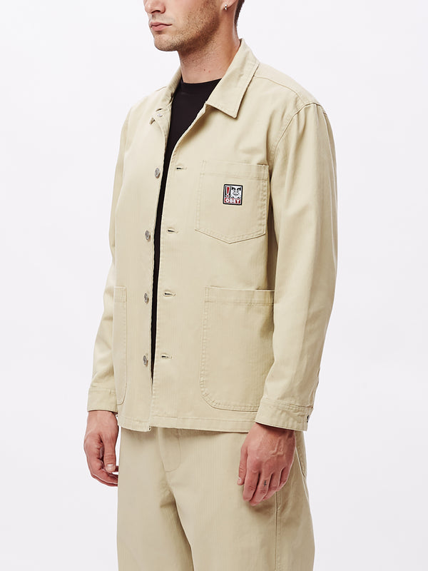 pebble chore jacket natural | OBEY Clothing