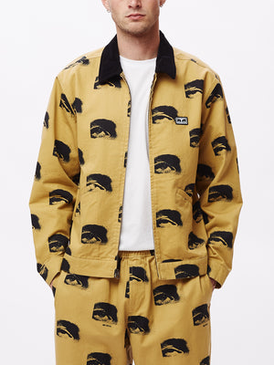 sees all work jacket almond multi | OBEY Clothing