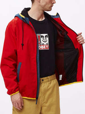 messenger jacket red multi | OBEY Clothing