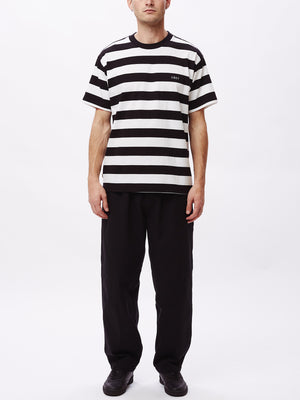 ideals organic wide stripe tee black multi | OBEY Clothing