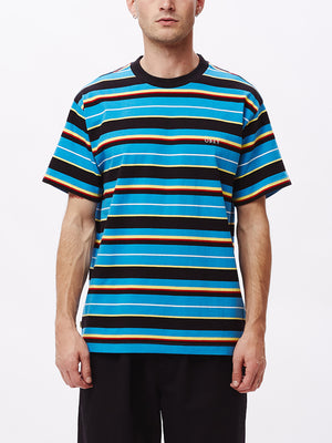 ideals organic dale tee ss blue multi | OBEY Clothing