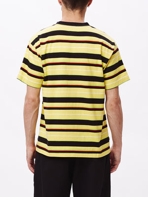 ideals organic dale tee ss yellow multi | OBEY Clothing