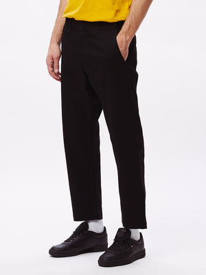 straggler flooded pants black | OBEY Clothing