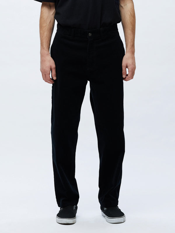 hardwork cord carpenter pant black | OBEY Clothing