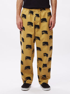 easy big boy printed pant almond multi | OBEY Clothing