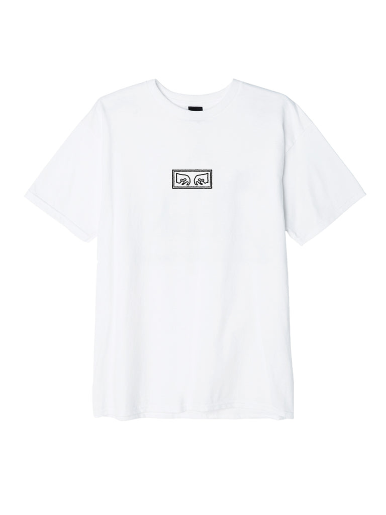obey jumbled eyes basic t white | OBEY Clothing