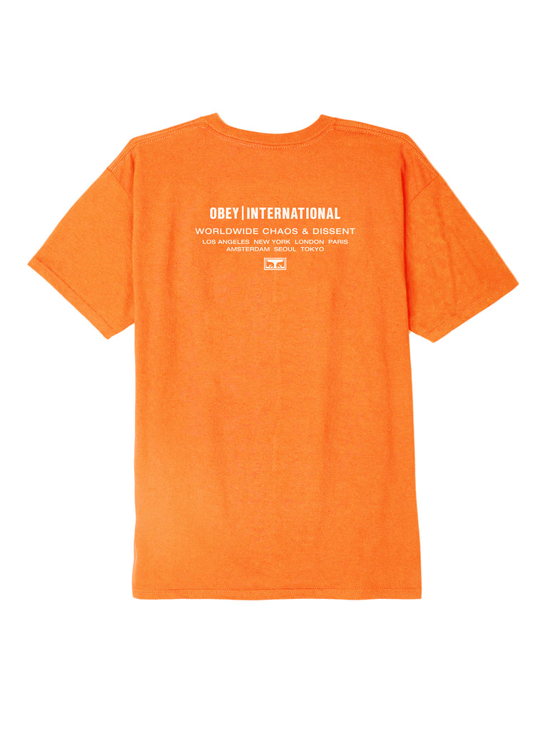obey intl chaos dissent tee saftey orange | OBEY Clothing