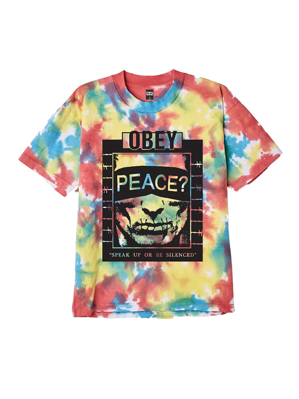 speak up tie dye rainbow blotch | OBEY Clothing