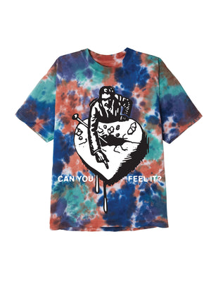 can you feel it 2 ss tee iris blotch | OBEY Clothing