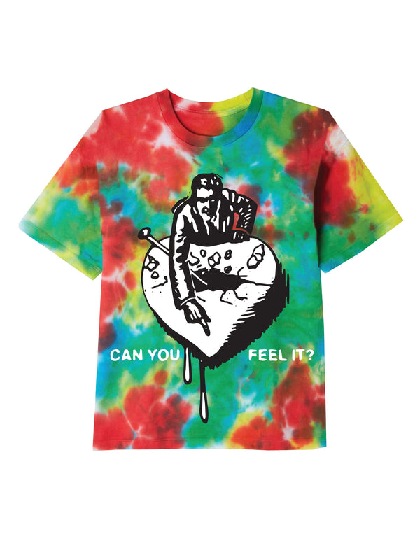 can you feel it 2 ss tee rainbow blotch | OBEY Clothing