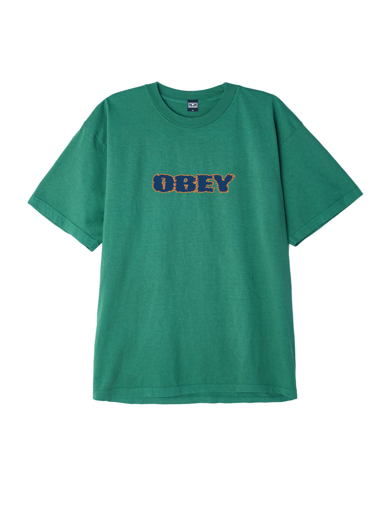 obey to the core tee emerald | OBEY Clothing