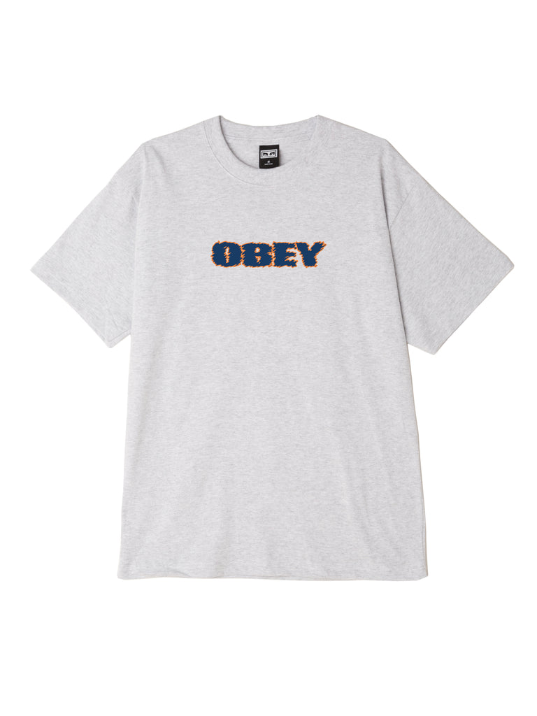 obey to the core tee heather grey | OBEY Clothing