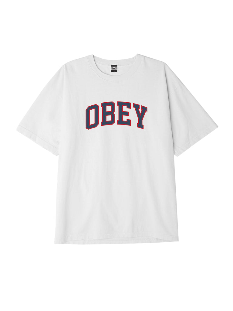 obey academic tee white | OBEY Clothing