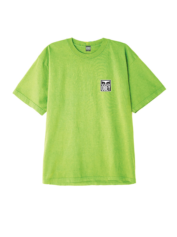 obey eyes icon 2 box t bright lime | OBEY Clothing