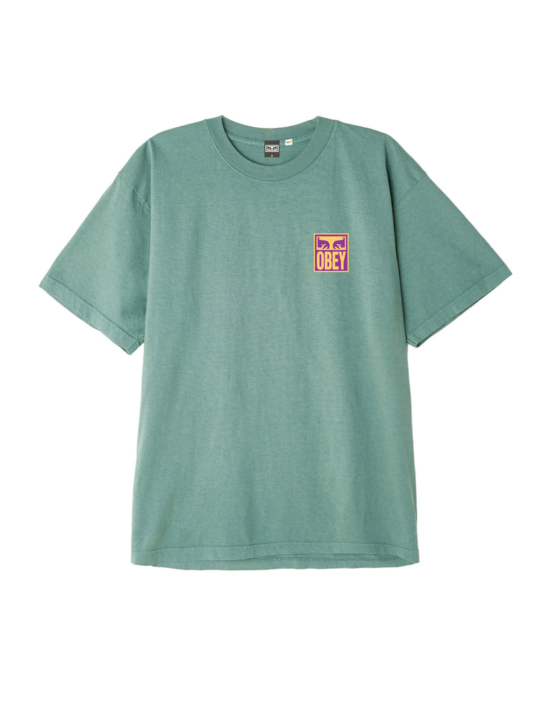 eyes icon obey tee atlantic green | OBEY Clothing