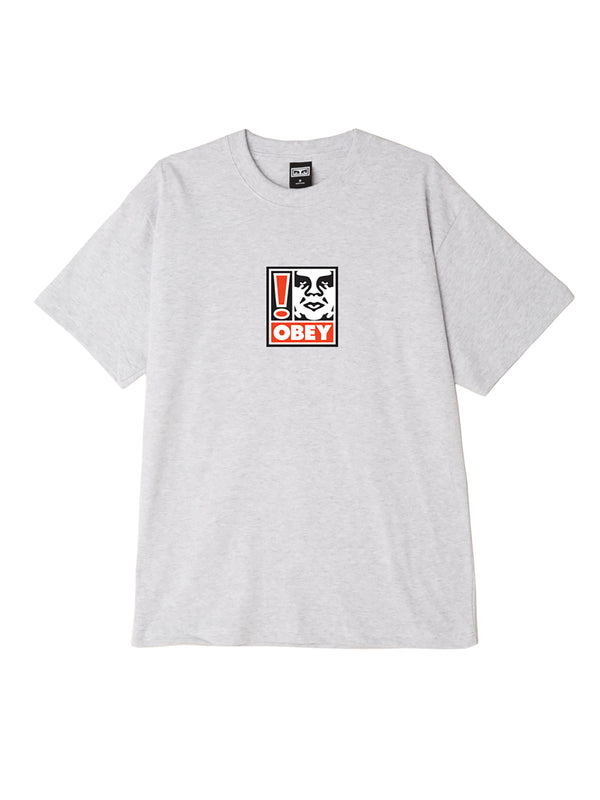 obey exclamation point box t heather grey | OBEY Clothing
