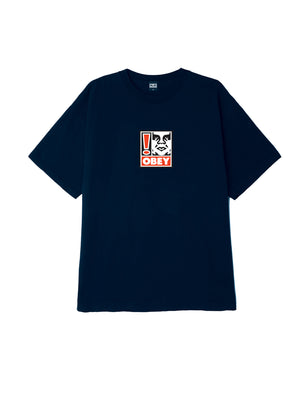 obey exclamation point box t navy | OBEY Clothing