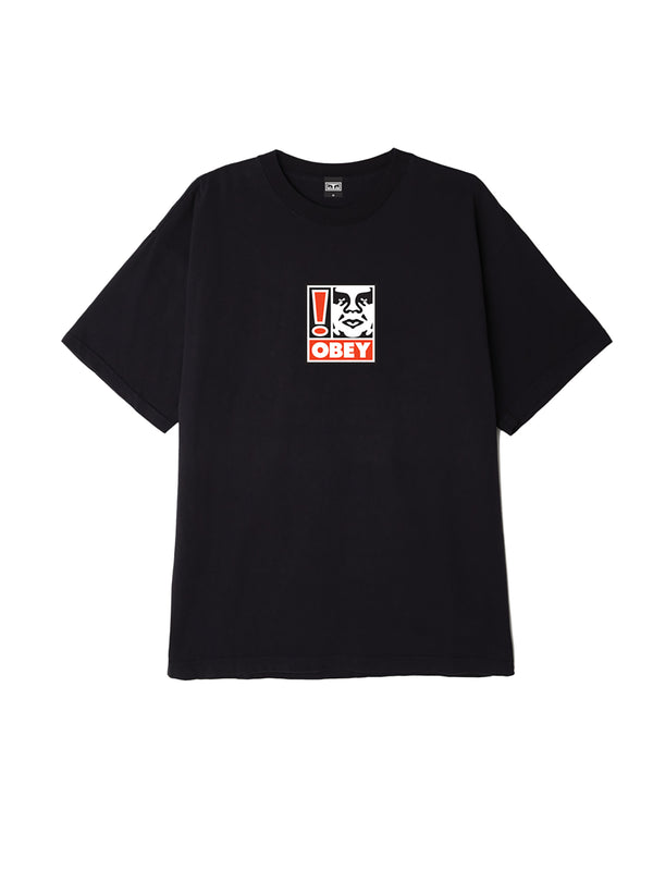 obey exclamation point box t off black | OBEY Clothing