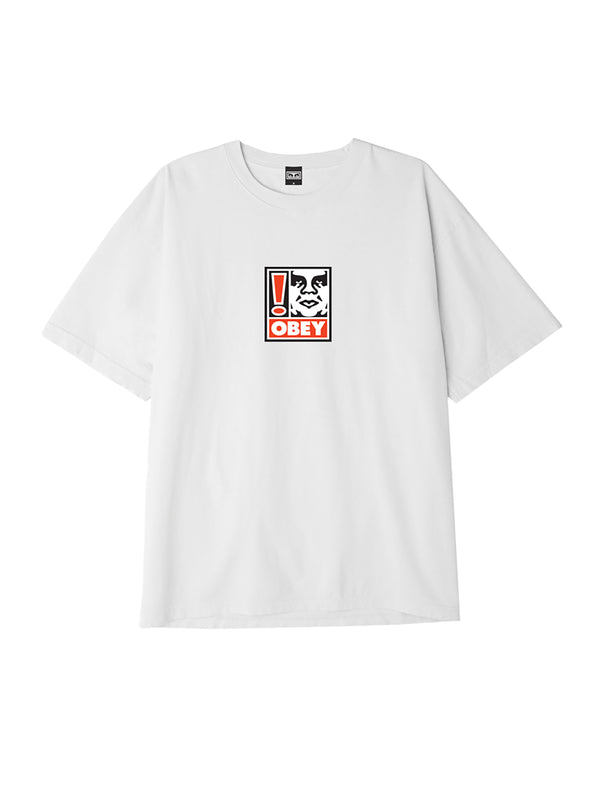 obey exclamation point box t white | OBEY Clothing