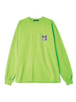 obey eyes icon 2 ls bright lime | OBEY Clothing