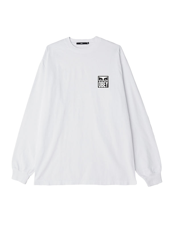 obey eyes icon 2 ls white | OBEY Clothing