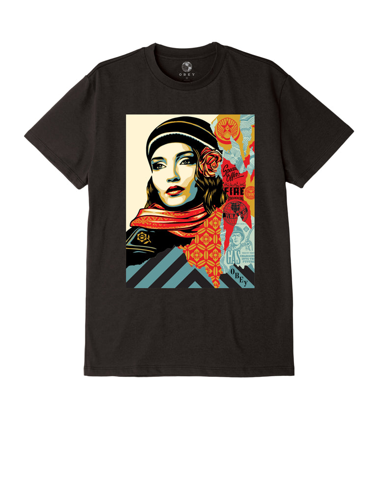 obey fire sale tee black | OBEY Clothing