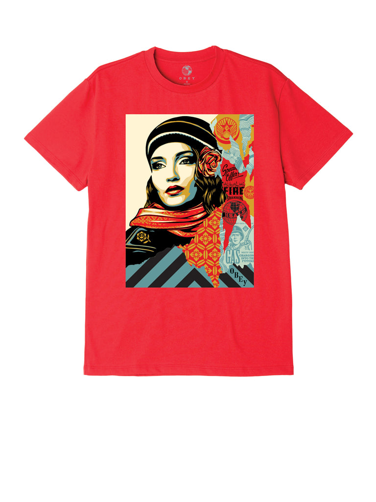 obey fire sale tee red | OBEY Clothing