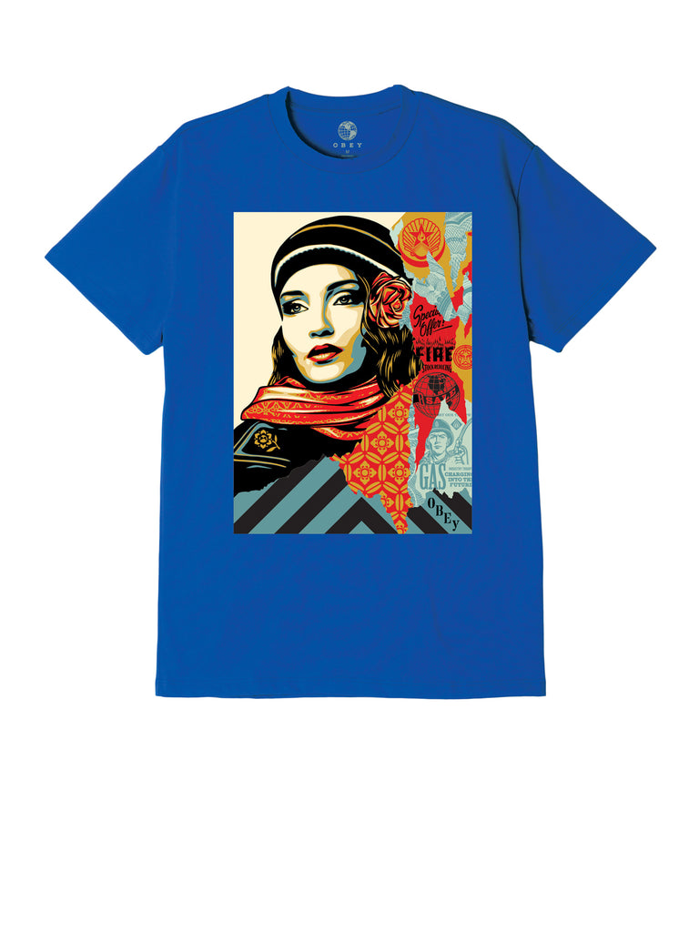 obey fire sale tee royal blue | OBEY Clothing