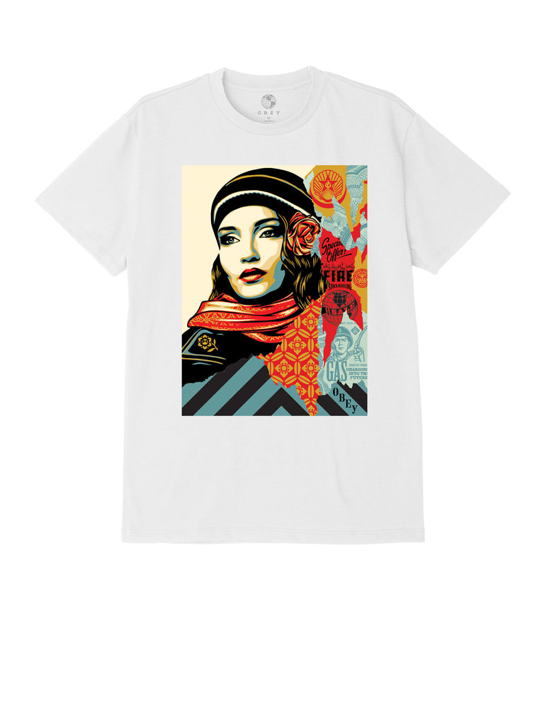 obey fire sale tee white | OBEY Clothing