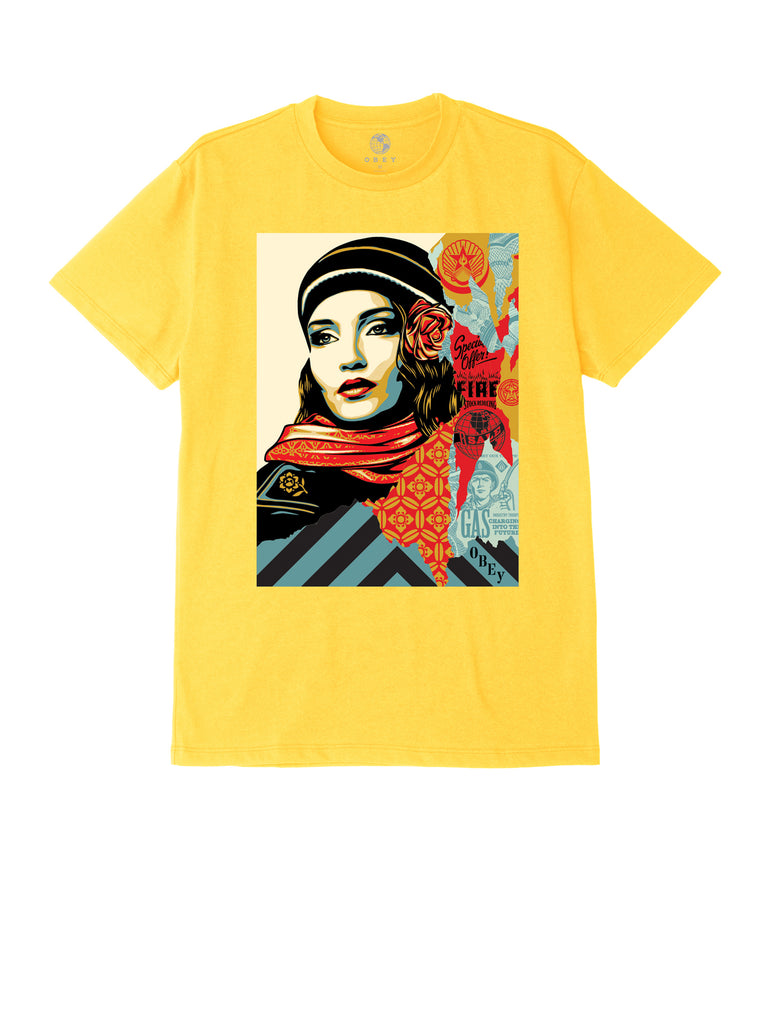 obey fire sale tee yellow | OBEY Clothing