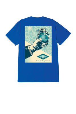 obey royal treatment tee royal blue | OBEY Clothing