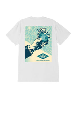 obey royal treatment tee white 1 | OBEY Clothing