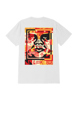 obey 3 face collage tee white 1 | OBEY Clothing