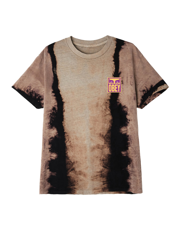 eyes icon obey tie dye t black | OBEY Clothing