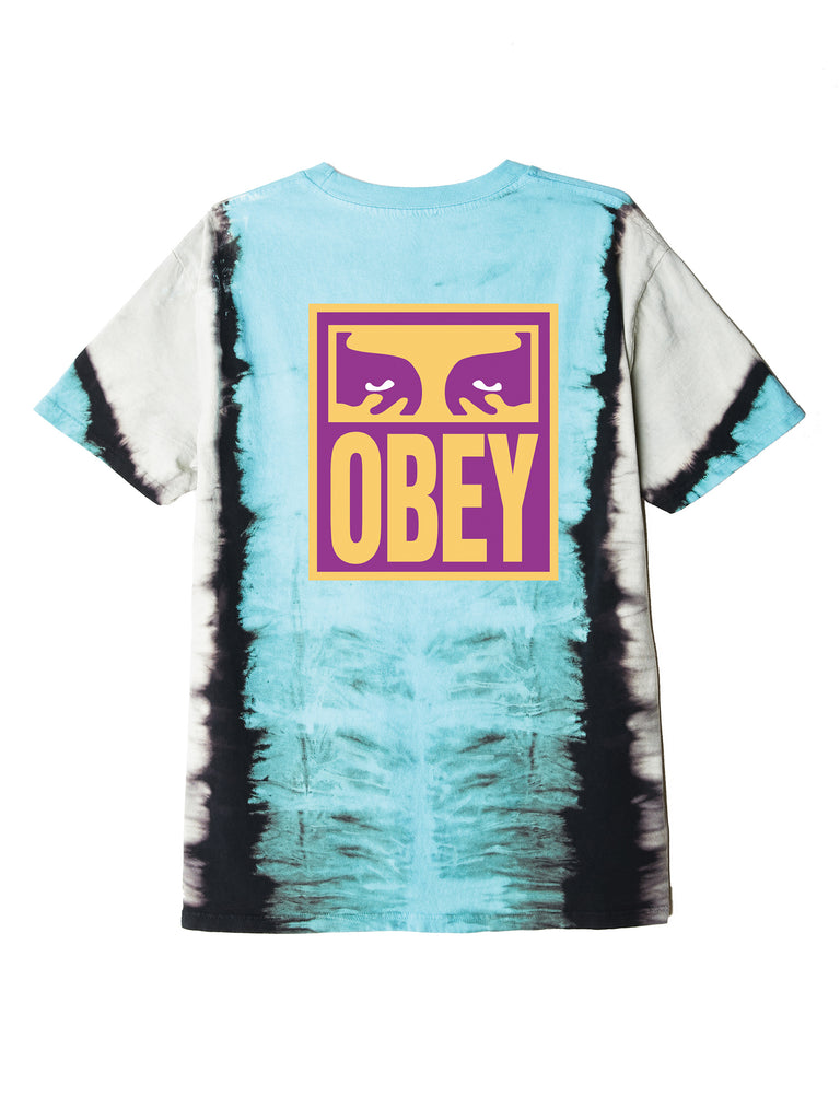 eyes icon obey tie dye t blue | OBEY Clothing