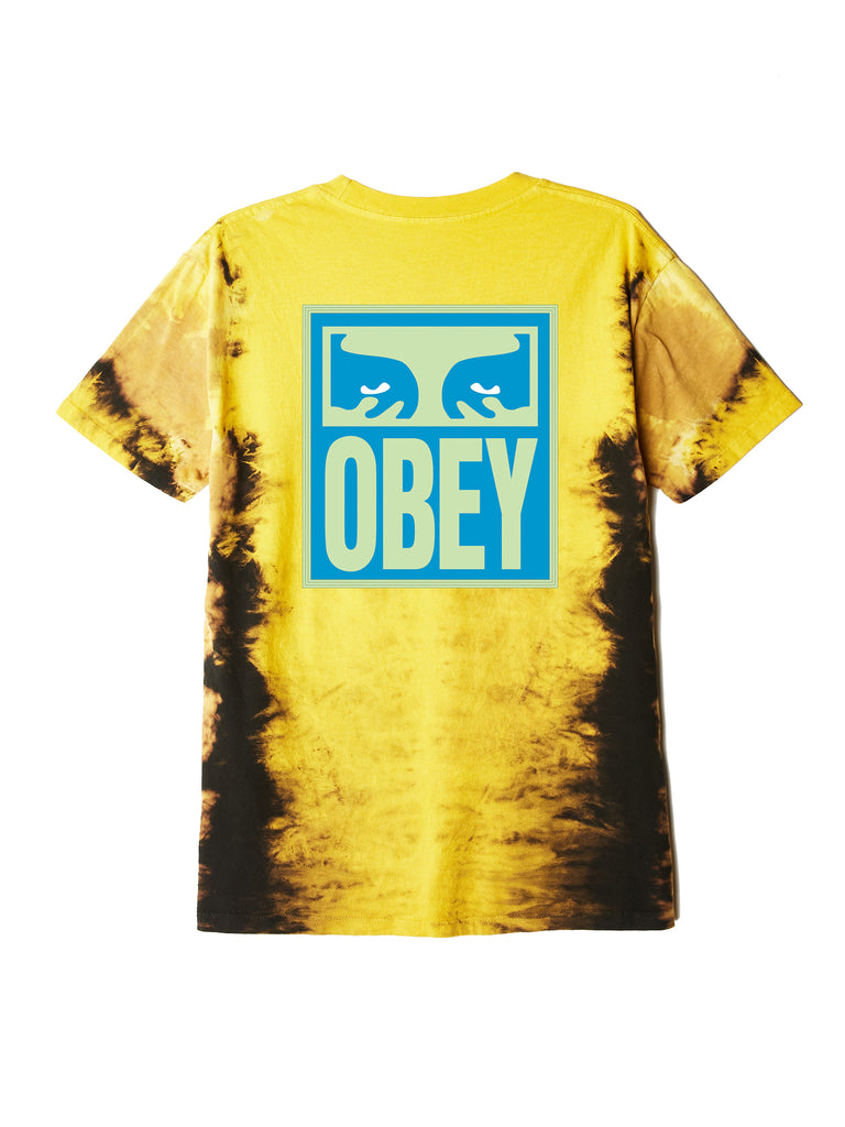 eyes icon obey tie dye t gold | OBEY Clothing
