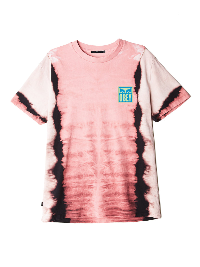 eyes icon obey tie dye t red | OBEY Clothing