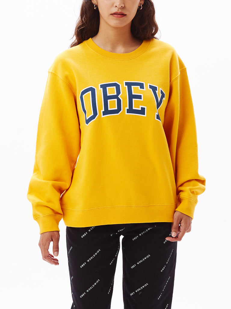 obey academic crew new gold | OBEY Clothing