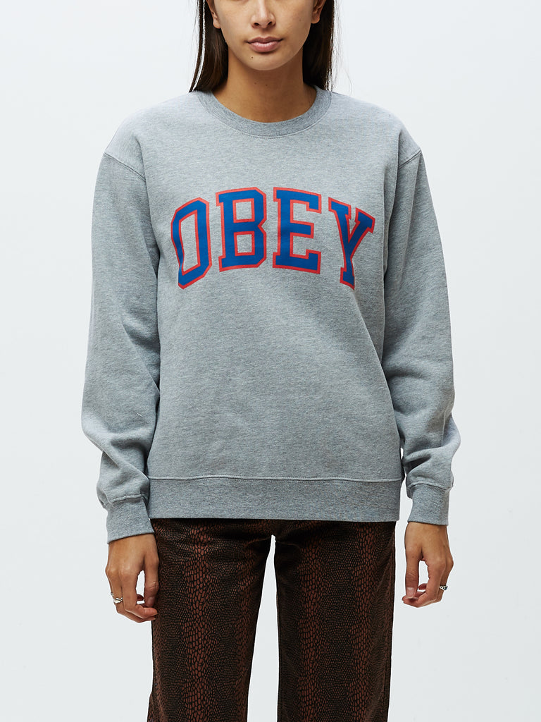 obey academic crew grey heather | OBEY Clothing