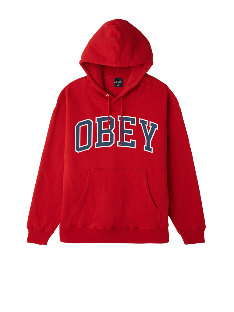 obey academic hood scarlet | OBEY Clothing