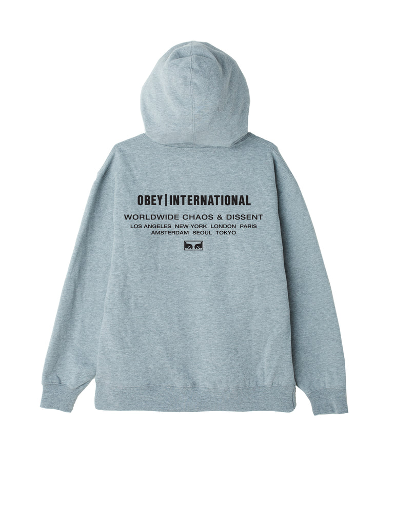obey international chaos hood grey heather | OBEY Clothing