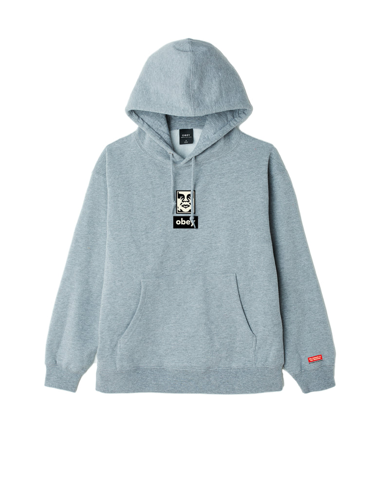 obey icon face 30 years grey heather | OBEY Clothing