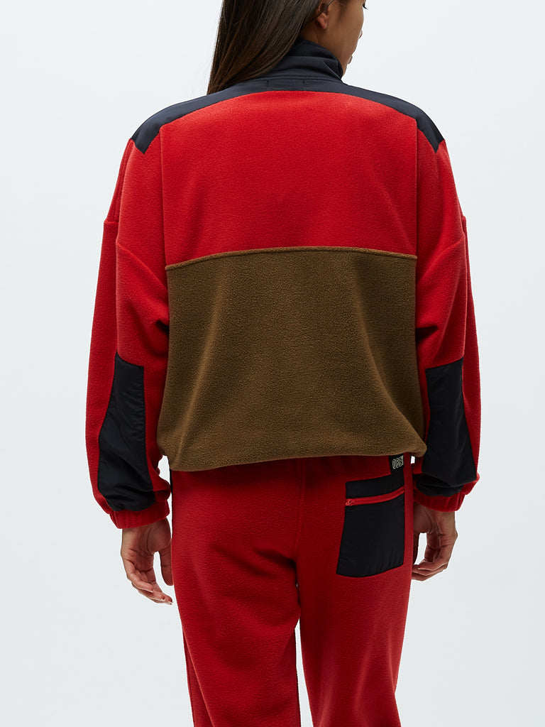 alpine polar anorak red / brown | OBEY Clothing