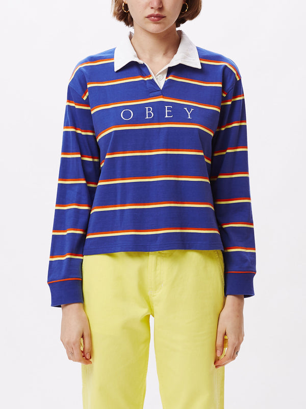 noble cropped rugby cobalt multi | OBEY Clothing