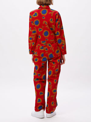 paisley coverall red multi | OBEY Clothing