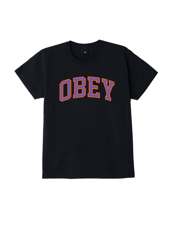 obey academic tee off black / lavender | OBEY Clothing